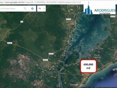 Terreno Comercial Em Itaparica - Ba, Arraial Do Retiro - Te00005