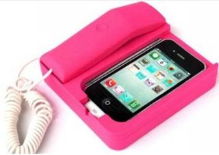 1 Suporte Telefone Fixo De Mesa Para iPhone 4/4s Pink