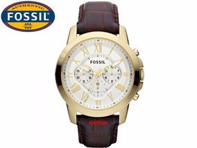 Relógio Fossil Cronografo Original Ffs4767/z Pulseira Couro