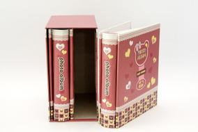 Álbum Duplo Infantil Pink Bear Para 80 Fotos 10x15 Cm