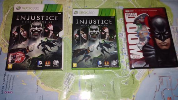 Injustice + Filme Liga Da Justiça Ed. Especial Xbox 360