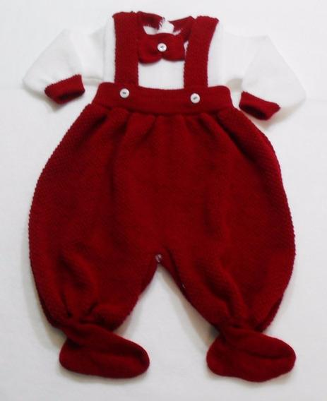 Macacão Gravatinha Bebê Menino Maternidade Batizado Ref. 132