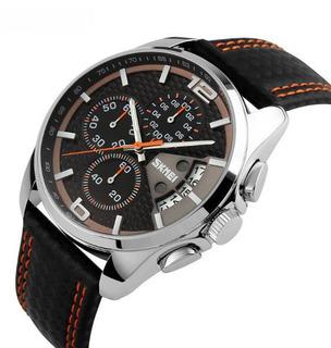 Skmei - Reloj Hombre Cronometro 1/10 Seg. Deportivo Moderno