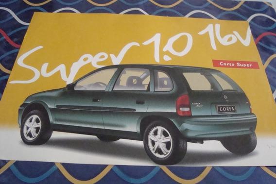 Poster Cartaz Foto Catalogo Chevrolet Corsa Super 2 E 4 Port