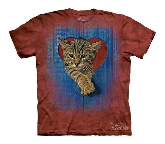 Playera 4d - Unisex Infantiles -8185 Heart Kitten.