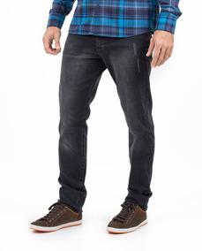 Calça Jeans Com Elastano E Lavação