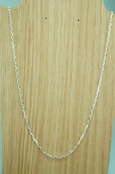 Corrente Cadeado Prata 925 (m) C/2,5 Mm X 60cm,linda!