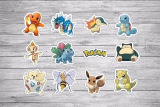100 Tags Toppers Festa Pokemon 3 Aniversário 3,5cm