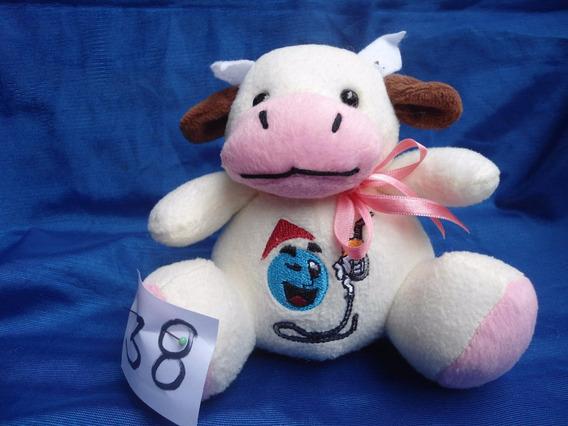 Vaca Branca Com Detalhe Rosa 15 X 15