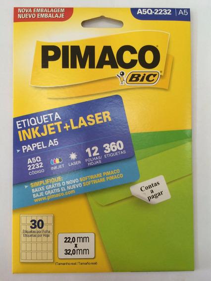 Etiqueta Pimaco A5q-2232 Com 12 Folhas Pimaco C/1 Unidade.