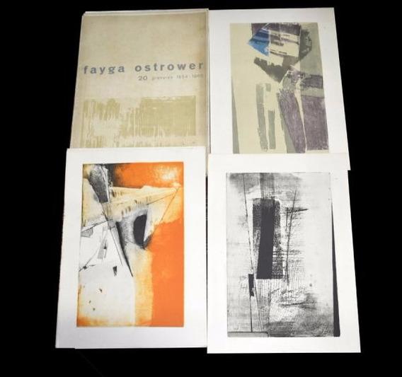 Fayga Ostrower - 20 Xilogravuras Raras 1954/1966 - 3s Arte