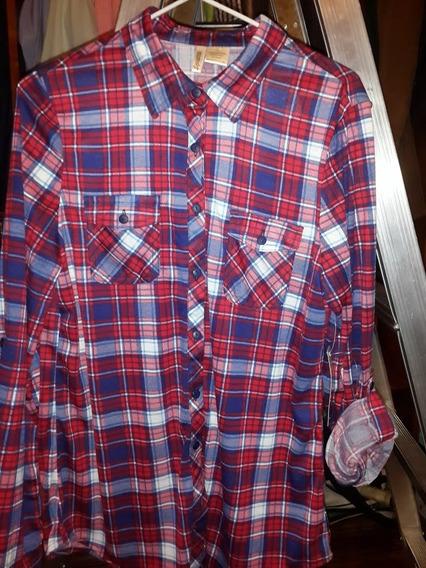 Camisa Escocesa Holgadisima !importada!!!!