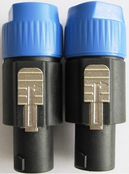 04 Conector Plug Speakon Macho 04 Vias - Kit Com 04 Peças
