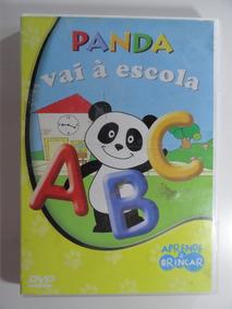 Dvd Panda Vai A Escola - Letras Números Vocabulário Original