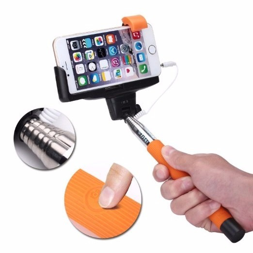 Monopod Negros Selfies 97cm 100% Compatible Android iPhone