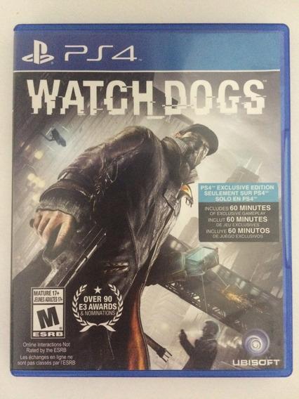 Jogo Ps4 Watch Dogs Usado, Ótimas Condições