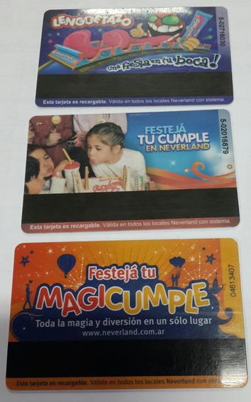 Lote De 3 Tarjetas De Neverland Salas De Juegos Infantil