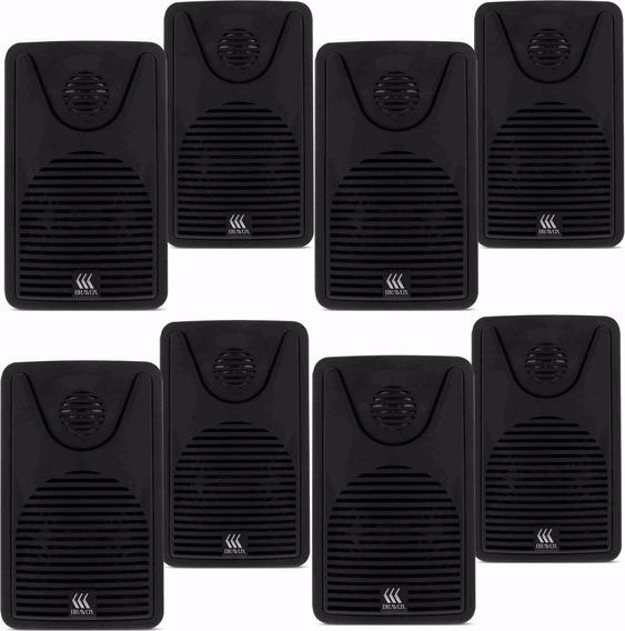 8 Caixa Acústica Bravox 30 Rms Foco 35 Som Ambiente Preta
