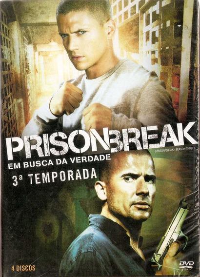Box Dvd Prison Break - Em Busca Da Verdade - 3ª Temporada