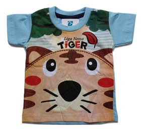 Camiseta Menino Bebe Infantil Enxoval Recem Nascido Verão 17