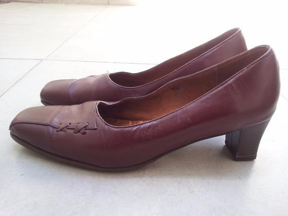 Zapatos De Cuero N°38 Con Media Suela De Goma Febo.
