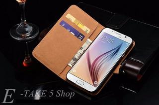 Case Capa Couro Legítimo Para Samsung Galaxy S6