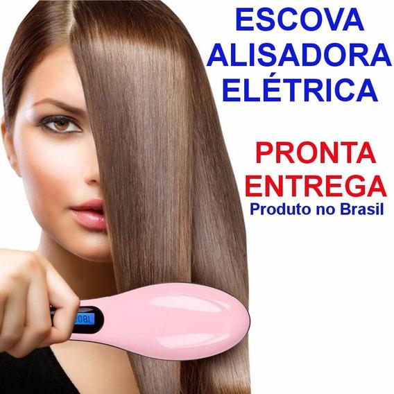 Escova Alisadora Magica Digital Lcd Profissional Magic Hair