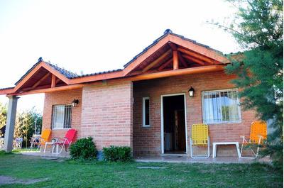 Cabaña, Mina Clavero, Con Pileta Y Cochera Cubierta; Parque