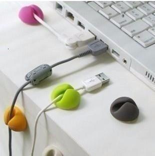 Imagen 1 de 1 de 6x Multiuso Pegar Cable Clips Laptop iPhone 5 Galaxy Sony S4
