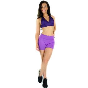 Short Curto Feminino Suplex Cintura Alta Academia Fitness