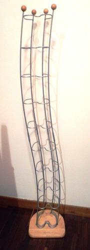 Mueble Porta Cds De Aluminio Mate/ Pino