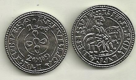 Moneda Portugal 1,5 Euro Año 2009 Morabitino De Sancho Ii