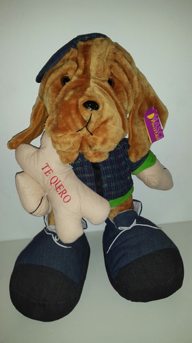 Perro Con Hueso Y Tarjeta. Nuevo Grande
