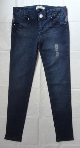 Jean Milk Blues Talla 34 Pantalon Entallado Stretch Nuevo