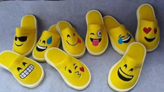 Pantuflas Emojis Emoticones X 6 Unidades