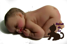 Molde Silicone - Bebê Bruços Realista 5cm ( Bl001)