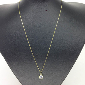 Corrente Veneziana Folheada Ouro 18k 45cm + Ping Ponto D Luz
