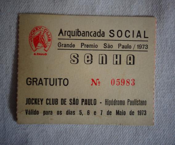 Jockey Club São Paulo Memorabilia 1973 Hipódromo