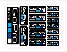 Kit Cartela Adesivos Gopro Go Pro Hero Sports Frete Grátis