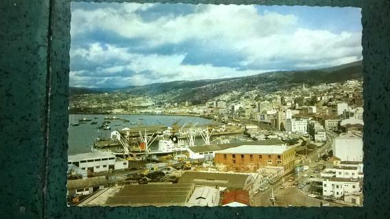 Tarjeta Postal * Valparaiso Aduana Y Puerto* Chile