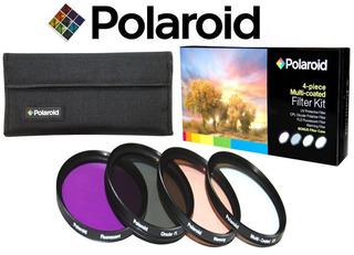 Polaroid 4 Filtros 58mm Uv + Fld +cpl + Polarizador