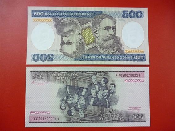 Brasil Billete De 500 Cruzeiros Año 1985 Pick 200 Unc