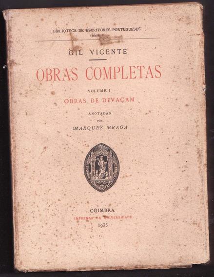 Gil Vicente - Obras Completas !: Obras De Devoção 1933 Raro