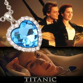 Colar Titanic Coração Do Oceano Cercado De Cristais