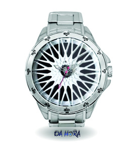 Relógio Roda Bbs Branca Personalizado