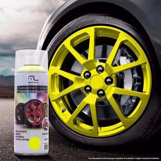 Tinta Spray Envelopamento Amarelo Fluorescente 400ml Multi