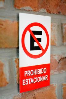 Prohibido Estacionar - Cartel De Chapa Chico