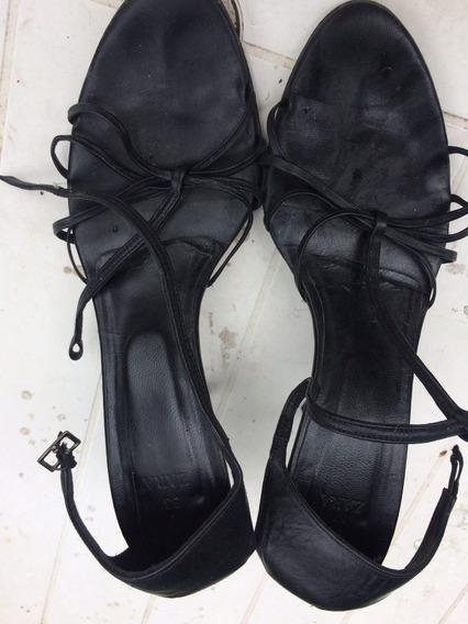 Zapatos Zara Cuero Negro 38