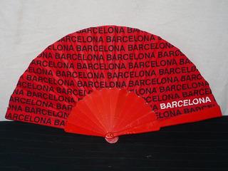 Abanico Español Recuerdo De Barcelona Coleccionable