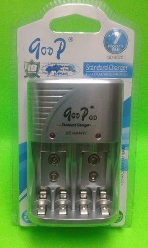 Cargador Para Bateria Aa Aaa 9v Recargable Goop